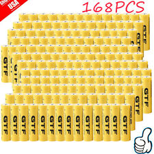 168X 18650 3.7V 9800mAh Yellow Li-ion Rechargeable Battery For Torch Flashlight