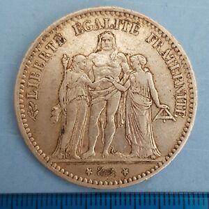 France 1874 A 5 Francs Paris c24.9g (ref #16)