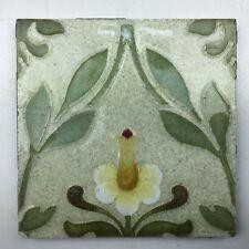 Jugendstil Blüte Fliese Mettlach Villeroy & Boch Kachel art nouveau tile