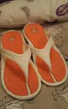 Flip flap  Shoes Size 6 / 37 White  Approx Fit Size 5