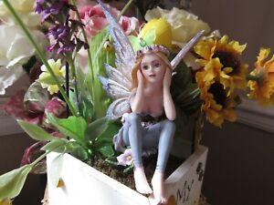 "Fairy Garden Miniature 3 3/4"" fairy figurine with Blonde Hair NEW in Box!"