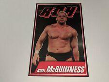 "NIGEL MCGUINNESS Ring Of Honor ROH Wrestling Jumbo Trading Card 5"" x 7"" RARE"