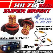 *X2pc H11 78 SMD FOG LIGHT LED DRL BULBS CANBUS ERROR AUDI A4 A3 S5 RS4 A5 A6