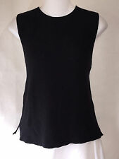 EILEEN FISHER Black Wool Pullover Tunic Top Tank Shirt Shell Medium M EUC