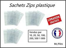 Lot 200 Sachets ZIP 40x60, pochettes, sacs plastique transparents, qualité pro