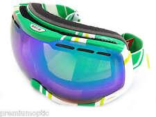 BOLLE - EMPEROR premium Ski Snow Goggles WHITE LIME / Green Emerald MIRROR 21141