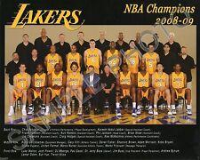 2008-2009 LOS ANGELES LAKERS NBA WORLD CHAMPIONS 8x10 TEAM PHOTO