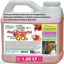 1.25 Lt - RED PALM OIL (extra virgin) - Free Shipping