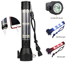 Solar Power LED Flashlight 9 In1 Multifunction USB Rechargeable Emergency Torch
