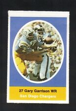 1972 SUNOCO STAMP GARY GARRISON SAN DIEGO CHARGERS