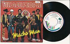 """VILLAGE PEOPLE 45 TOURS 7"""" BELGIUM MACHO MAN"""