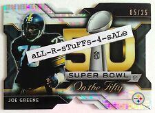2015 Topps Chrome Mini JOE GREENE Super Bowl 50 Pulsar /25 Die-Cut HOF Steelers