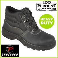 Pro Heavy Duty Mechanics Builders Drivers Work Safety Chukka Boots Steel Toe Cap