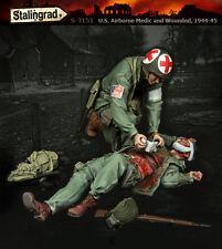 STALINGRAD Miniatures, 1:35, S-3151, degli Stati Uniti Airborne Medic e feriti, 1944-45,