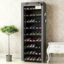 Schuhregal mit 10 Ebenen Schuhschrank DIY Schuhablage Aufbewahrung Stoff Regal