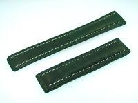 Breitling Band 18mm Kalb grün green verde Calf Strap für Faltschliesse IB18-20