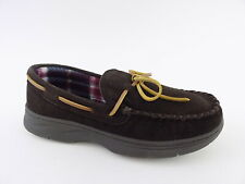 Rockport TRAPPER Brown Mens Size 9M SUEDE COZY Driving Moccasins Shoes
