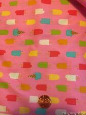 Lisette Ice Cream Allover Pink Cotton Poplin by the Yard HTF