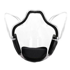Black Durable Mask Face Shield Combine Transparent Face Mask Lip Reading Bracket