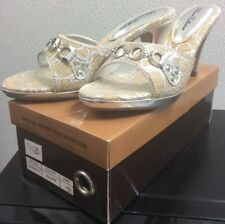 cf59f4063ca2 Blossom Collection Silver Heels Womens Size 7 Dress