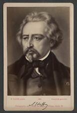 1880s Sophus Williams Cabinet Card Photograph Dutch-French Artist Ary Scheffer
