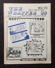 1988 THE WRAPPER Non-Sports Fanzine Magazine #72 FN- Trading Cards