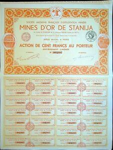MINES D'OR DE STANIJA - 1933 (Roumanie)