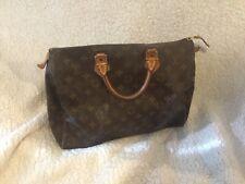 Authentic Louis Vuitton tote shoulder hand bag purse speedy 30 monogram