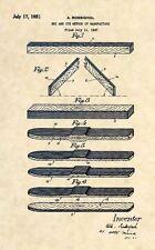 Official FIRST Rossignol Ski US Patent Art Print - Vintage Antique Skis 438