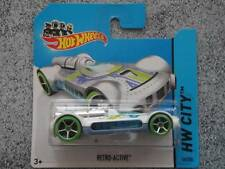 Hot Wheels 2014 #056/250 Retro-Active blanco con verde ruedas HW CIUDAD