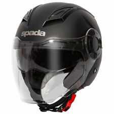 Spada Lycan Matt Black Moto Motorcycle Motorbike Helmet