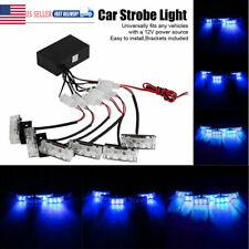 18 LED Blue Car Police Emergency Recovery Strobe Flash Light Warning Dash Lamp