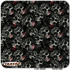 """HYDROGRAPHIC DIPPING SKULL HYDRO DIP WATER TRANSFER FILM 38.5"""" x 19"""""""