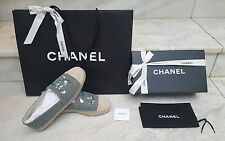 100% Authentic Chanel Mint Espadrilles & Beige Toe EU 39 - immediately SOLD OUT