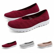 35-42 Summer Womens Hollow Breathable Slip On Walking Running Shoes Flats Soft B