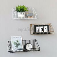 Iron Metal Floating Shelves Wall Mounted Shelf Display Rack Storage Home Decor