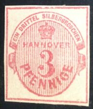 Hanover 1853 3 Pfennig pink Red Stamp mint