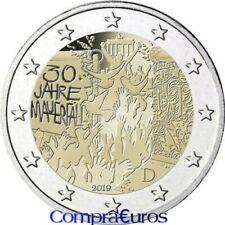 2 Euros Conmemorativos ALEMANIA 2019 *Muro De Berlín* Sin Circular