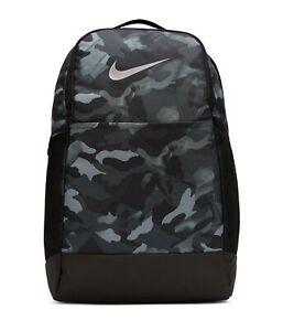 Backpack Nike NK BRSLA M BKPK - 9.0 AOP2  Green Camo & Grey Camo