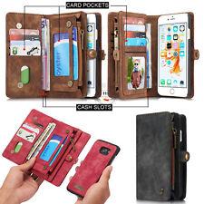 XO Retro Wallet Luxury Leather Flip Case Cover For Apple Samsung S7 Edge S8 Plus