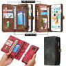 Retro Wallet Luxury Leather Flip Case Cover For Apple Samsung S7 Edge S8 S9 Plus