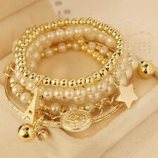 Fashion Women Ladies Lots Bracelet Gold Rhinestone Bangle Charm Cuff Jewelry