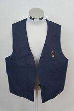 CampusTote Vintage Blue Denim Jean Trucker Sleeveless Vest Jacket Sz XL USA