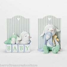 "5.5"" Baby Lamb Bookends Tender Embrace by Ina Freehill Nursery Decor # 14885"