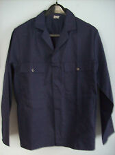 Jacket Mens Traditional Navy Blue Work Jacket 42.5 in Chest Made In Britain New