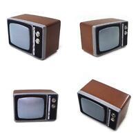 KQ_ 1/12 Doll House TV Model  Miniatures Furniture Resin Nostalgic Retro Living