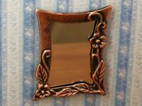 Dolls House Miniature 1/12th Scale Antique Brass Style Wall Mirror MA113