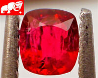 JEDI! GLOWING VIVID COLOR! Unheated 0.47 CT JEDI RED Spinel (Burma)