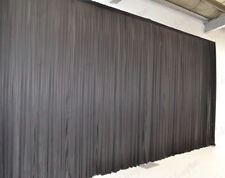 6mx3m Black Wedding Backdrop Curtain for (20ftx10ft)