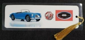 """UK MG Sports Car Bookmark - Hand Made - Choose Model - 5 ml thick - size 8"""" x 3"""""""